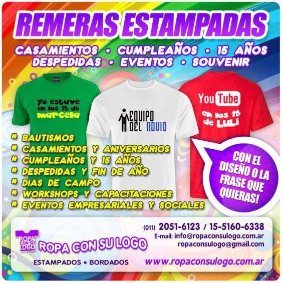 Merchandising publicidad en ropa estampados de remeras ropa con logo