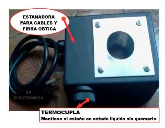 Estañadora para cables para producciones $3400