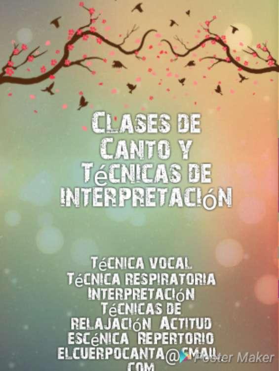 Clases de canto y técnicas de interpretación