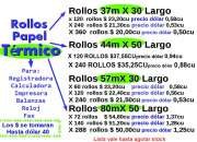 ROLLOS TÉRMICOS 80X50 DE 1ERA CORTAMOS