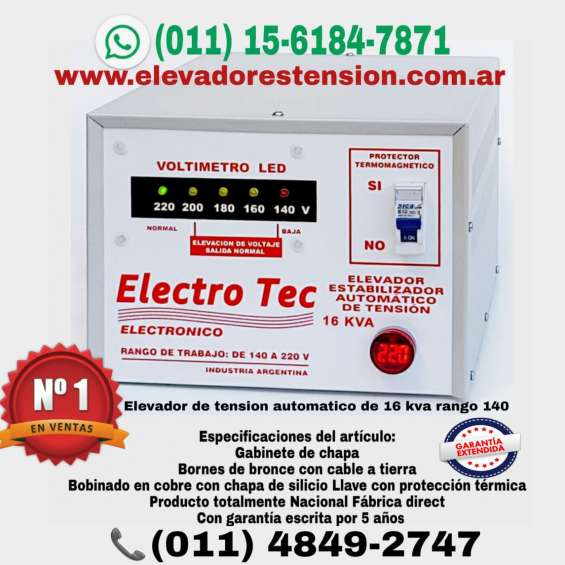 Elevador de tensión   estabilizadores automáticos en moron - ramos mejia