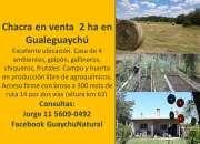 REVALUADA Venta chacra 2 hectáreas Gualguaychú Excelente Ubicación