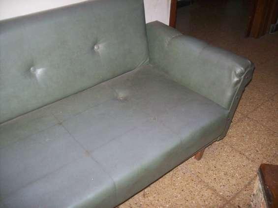 Sofa cama cuerina 1 pza