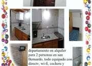 alquilo departamento en san Bernardo, 5 cuadras del mar